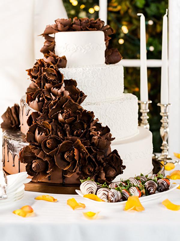 Фото Шоколад Торты Конфеты Пища Сладости 600x800 для мобильного телефона Еда Продукты питания сладкая еда