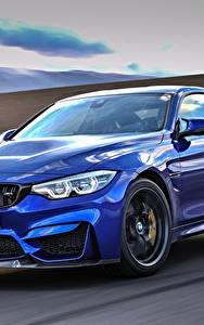 Фотографии БМВ Металлик Движение Синий 2017 M4 CS Worldwide Машины