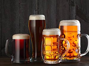 Картинки Напитки Пиво Кружке Стакане Пеной Еда
