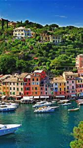 Фотографии Сорренто Италия Здания Причалы Яхта Лодки Города