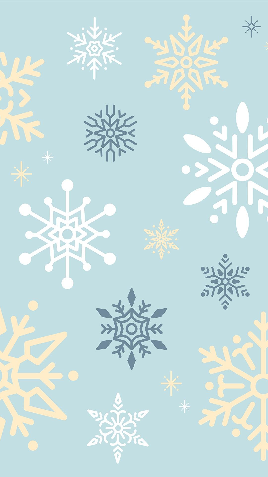 Фотографии Текстура снежинка 1080x1920 Снежинки