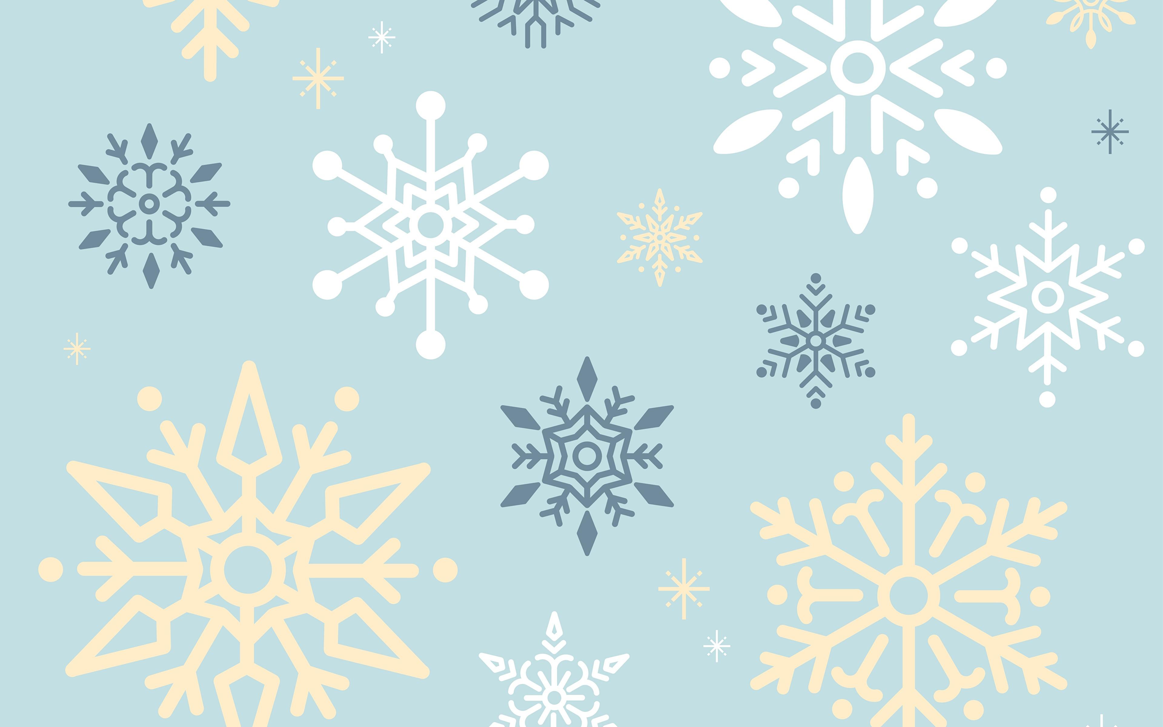 Фотографии Текстура снежинка 3840x2400 Снежинки