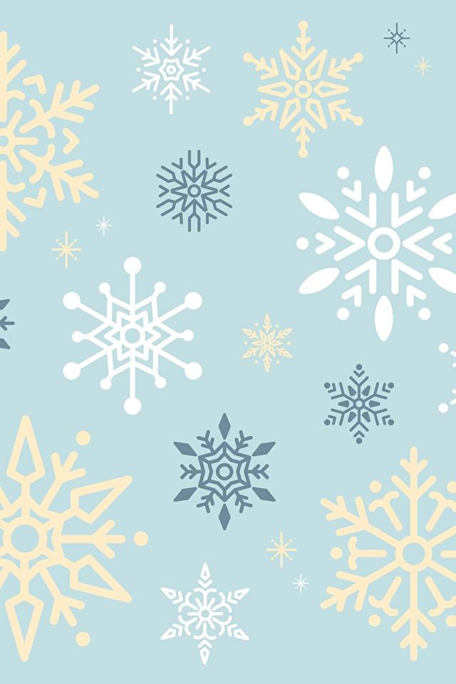Фотографии Текстура снежинка 640x960 Снежинки