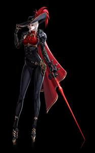 Обои Воины Вампиры На черном фоне Шляпа Рапира GoDog Q, Vampire Knight, Фантастика Девушки