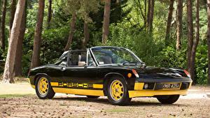 Обои Ретро Porsche Черных Металлик Родстер 1974 914 Limited Edition Автомобили