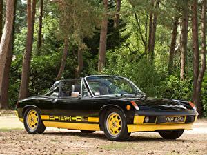 Обои Ретро Porsche Черных Металлик Родстер 1974 914 Limited Edition