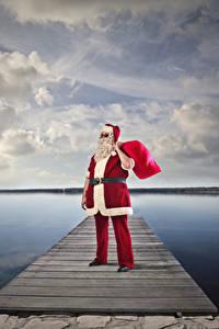 Картинки Рождество Пристань Санта-Клаус Униформа
