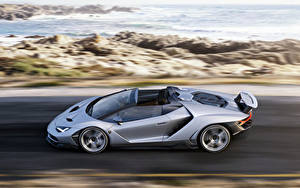 Картинки Lamborghini Сбоку Скорость Родстер Centenario