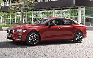 Обои Вольво Бордовый Металлик 2018-19 S60 T5 R-Design Worldwide Авто
