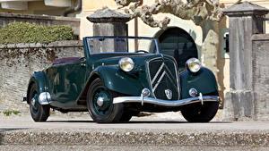 Обои Ситроен Ретро Металлик Кабриолета 1938-39 Traction Avant 15-Six G Cabriolet Авто