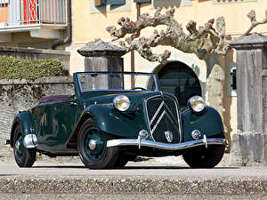 Обои Ситроен Ретро Металлик Кабриолета 1938-39 Traction Avant 15-Six G Cabriolet машины