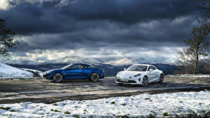 Картинки Рено Вдвоем 2017-19 Alpine A110 Автомобили