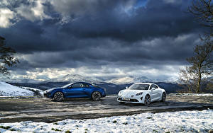 Картинки Рено Две 2017-19 Alpine A110 Автомобили
