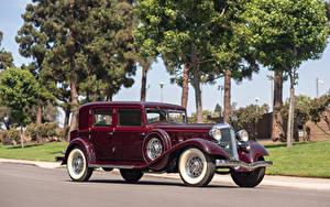 Обои для рабочего стола Крайслер Винтаж Бордовые 1933 Custom Imperial Sedan by LeBaron машины