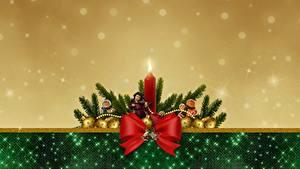 Фотографии Новый год Бантики Кукла Шар Шаблон поздравительной открытки