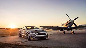 Обои Ford Самолеты Рассветы и закаты RTR 2018 Mustang GT Eagle Squadron машины
