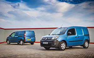 Фото Renault Двое Голубые 2013-19 Kangoo Автомобили