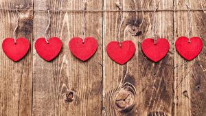 Фото День святого Валентина Доски Стенка Сердце Красный