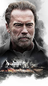 Картинки Arnold Schwarzenegger Мужчина Бородатые Лицо Смотрят Aftermath (2017) кино