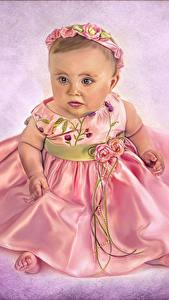 Картинка Девочка Платья ребёнок