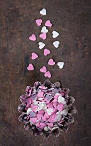 Фотография День святого Валентина Сладкая еда Конфеты Сердечко
