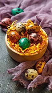 Картинка Пасха Праздники Яйцами Солома