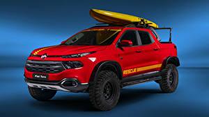 Картинки Фиат Красный Пикап кузов 2018-19 Toro Rescue Авто