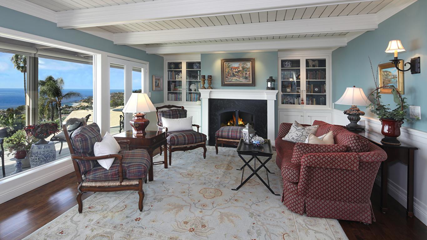 Картинки гостевая Интерьер Кресло диване ковров дизайна 1366x768 Гостиная Диван Ковер ковры ковра Дизайн