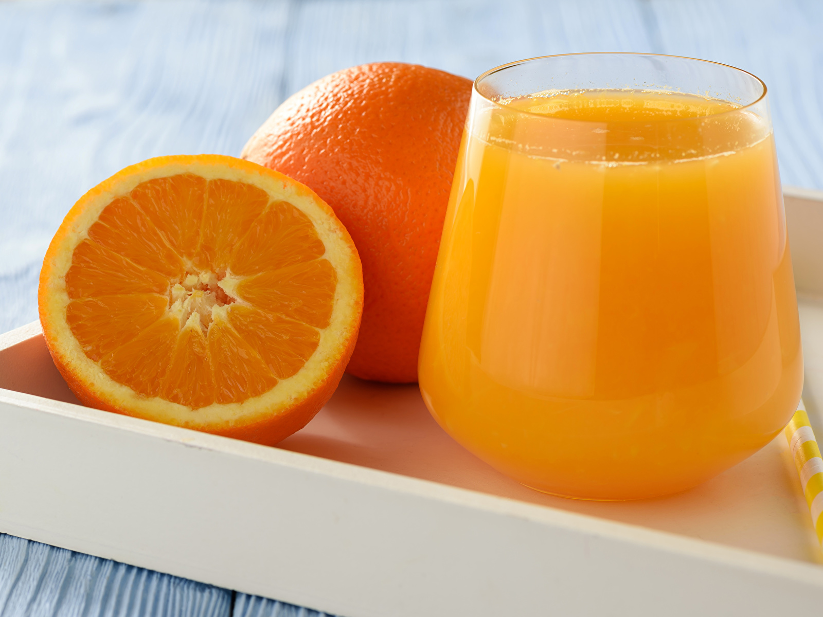 Фото Сок Апельсин стакане Пища 1600x1200 Стакан стакана Еда Продукты питания