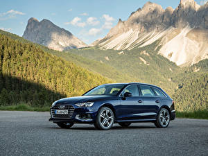 Фото Ауди Синих Металлик 2019 A4 Avant 35 TDI Worldwide машины