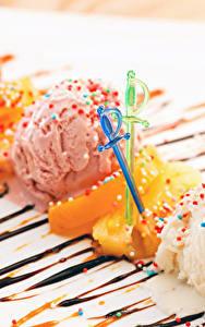 Картинка Сладости Мороженое Шар Дизайн Еда