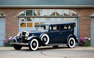 Обои Lincoln Винтаж Синий Металлик 1932 Model KB 5-passenger Sedan автомобиль