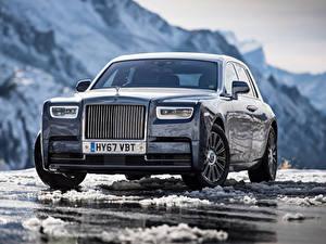 Обои Rolls-Royce Спереди Металлик Phantom машина