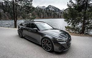 Фотографии Ауди Черная Металлик Универсал 2020 Audi RS 6 Avant авто