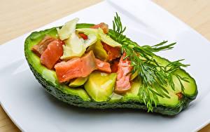 Картинки Авокадо Укроп Рыба Еда