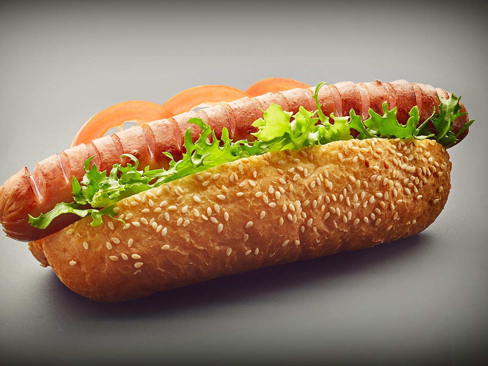 Фотографии Хот-дог Сосиска Булочки Быстрое питание Еда Крупным планом 1600x1200 Фастфуд Пища Продукты питания вблизи