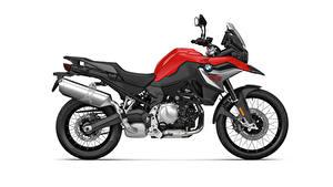 Фотография БМВ Сбоку Белым фоном F 850 GS, 2020 мотоцикл