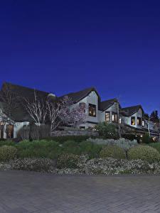 Фотография Штаты Здания Особняк Кусты Ночь Trigo Trail Trabuco Canyon