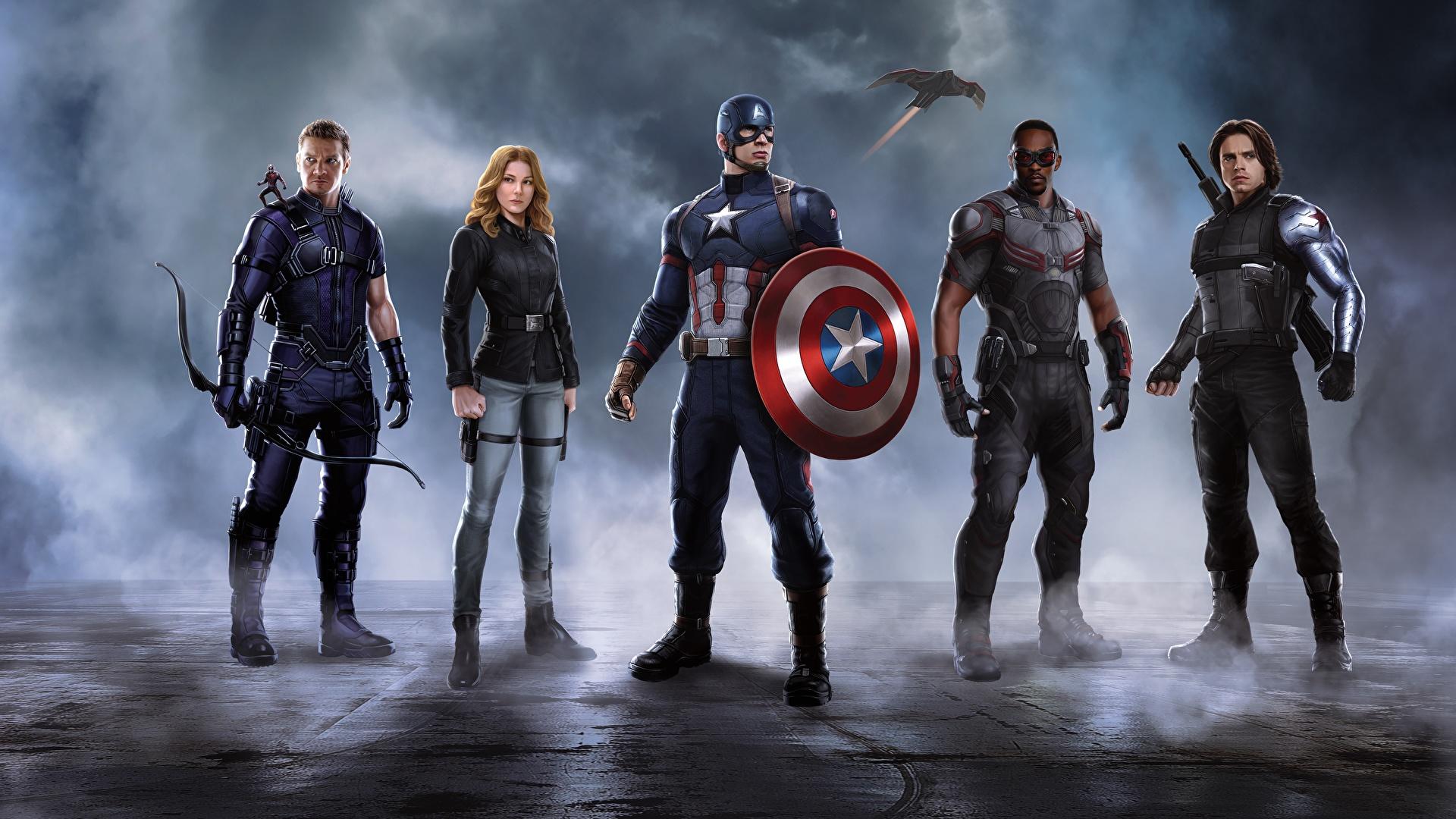 Фотография первый мститель: другая война chris evans щит 3840x2160.