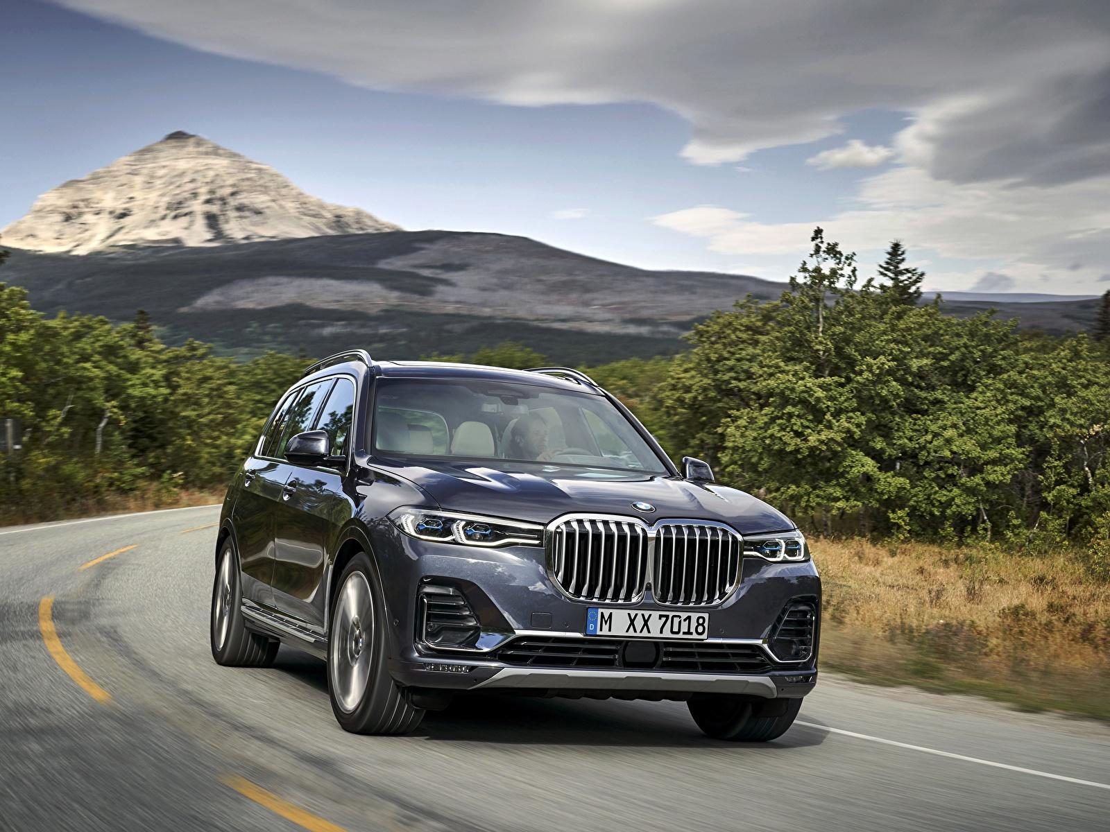 Картинки БМВ CUV 2019 X7 G07 Автомобили 1600x1200 BMW Кроссовер авто машины машина автомобиль