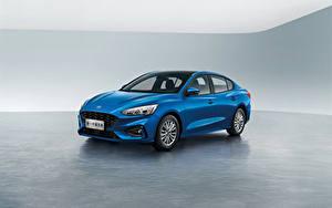 Картинки Форд Синяя Металлик Седан Focus Edge Sedan, China 2019 авто