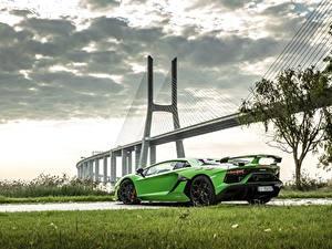Фото Ламборгини Мосты Салатовый 2018, SVJ, Aventador SVJ Автомобили
