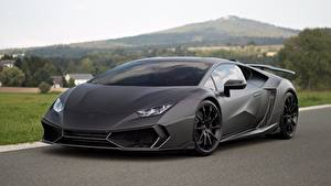 Картинка Lamborghini Серая Mansory Huracan 2016 Torofeo 1250 hp авто