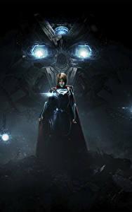 Картинки Супергёрл герой Герои комиксов Несправедливость 2 Ночные Игры Девушки