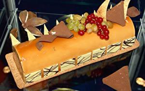 Обои Сладости Рулет Шоколад Виноград Смородина Торты Дизайна Пища