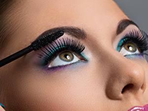 Фотографии Ресница Глаза Мейкап Красивые Смотрит Нос девушка