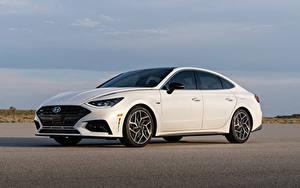 Обои Hyundai Белый Металлик Sonata N Line (DN8), 2020 машины
