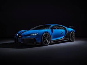 Картинки BUGATTI Синяя Металлик Chiron, 2020, Pur Sport авто