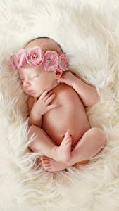 Обои Младенец Спящий Руки Ноги Дети