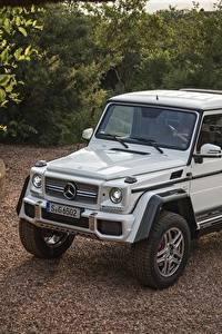Обои Mercedes-Benz Стайлинг Белый 2017 Maybach G 650 Landaulet Worldwide Авто
